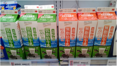 Skimmed Milk and Semi Skimmed Milk in Japan